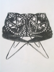 Laser-cut from Louise Campbell, pencil on paper, 30x21cm