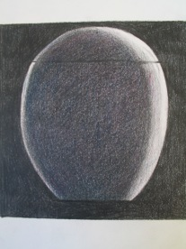 Bowl from the Tasmanian Wood Design Collection, pencil on paper, 16cmx16cm